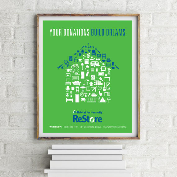 mock up poster on brick wall with books, 3d rendering